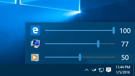 Windows 10 Ear Trumpet on system tray - How To Adjust Audio Volume For Each Application in Windows 10