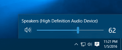 Windows 10 - audio volume control