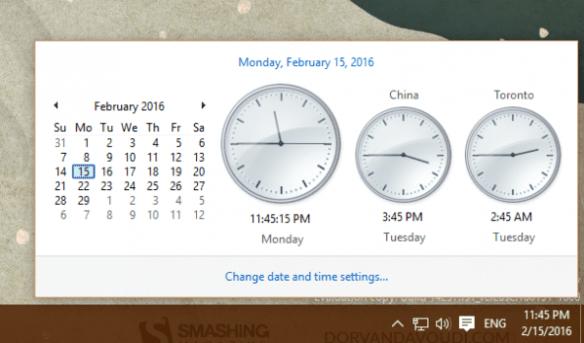 Windows 10 - Windows 7 style clock