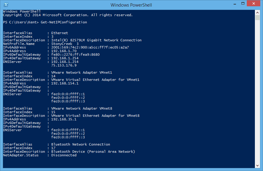 PowerShell Equivalent Cmdlets for IPConfig, PING, and