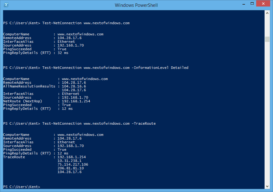 PowerShell Equivalent Cmdlets for IPConfig, PING, and NSLookup