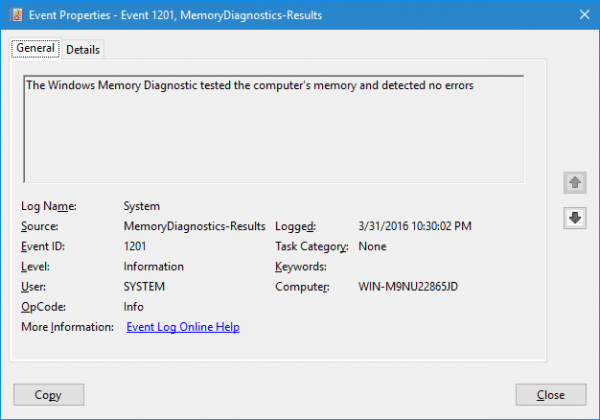 Memory Diagnostic Result 600x420 - How To Use Windows Memory Diagnostic Tool to Find Out Defective RAM