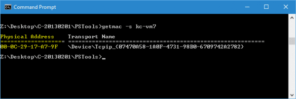 Command Prompt getmac 600x202 - Windows Quick Tip: How To Get MAC Address From a Remote Computer
