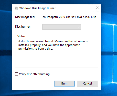 Windows disc image burner - How To Burn An ISO Image to Disc from Command Prompt in Windows