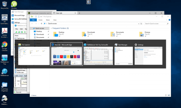 Alt Tab by Default 600x358 - A Few Tweaks To Alt + Tab App Switch Dialog Box in Windows 10