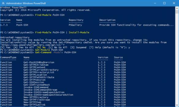 PowerShell - install Posh-SSH