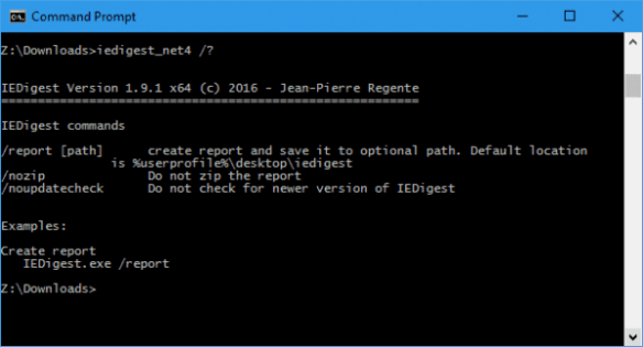 Command Prompt - IEdigest