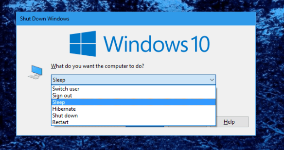 Windows 10 - Shutdown Windows