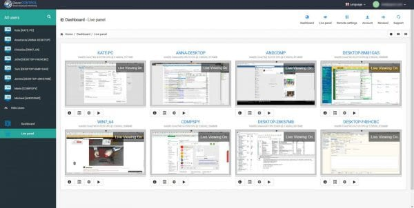 all dispalys 1 1600x804 600x302 - CleverControl - A Great Low Cost User Monitoring Solution