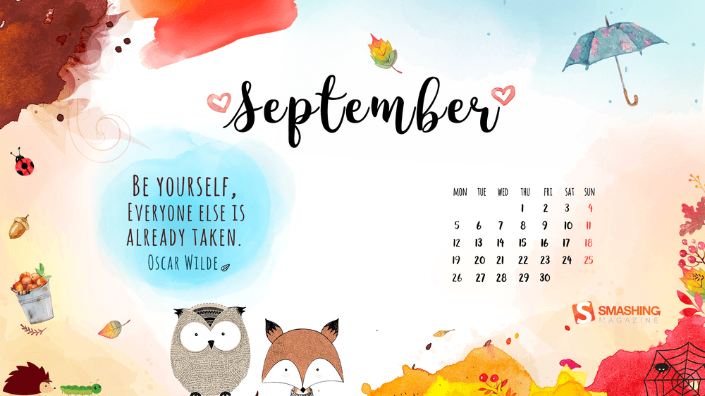 Download Smashing Magazine Desktop Wallpaper Calendar September 2016 Windows 7 8 10 Theme Next Of Windows