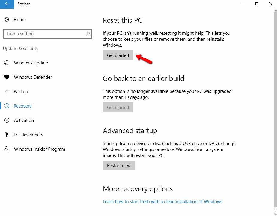 How To Fix Windows 10 Power Button via Start Menu Not