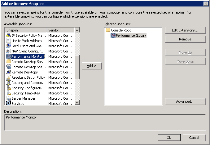 How To Save the Counters Added in Performance Monitor on Windows
