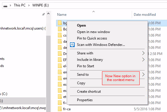 No NEW option in the context menu - How To Enable USB Write Protection on Windows 10