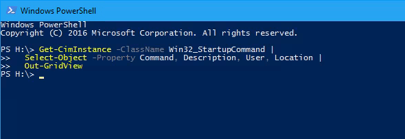 PowerShell find out startup programs - How To Find out Windows Startup Programs in PowerShell