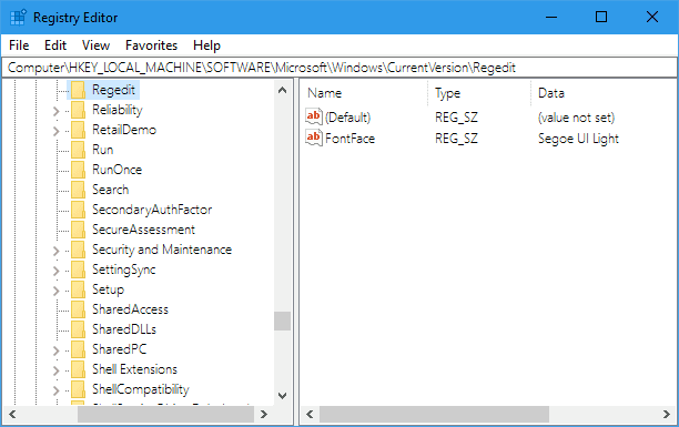 Fun Tip to Change the Registry Editor Font in Windows 10