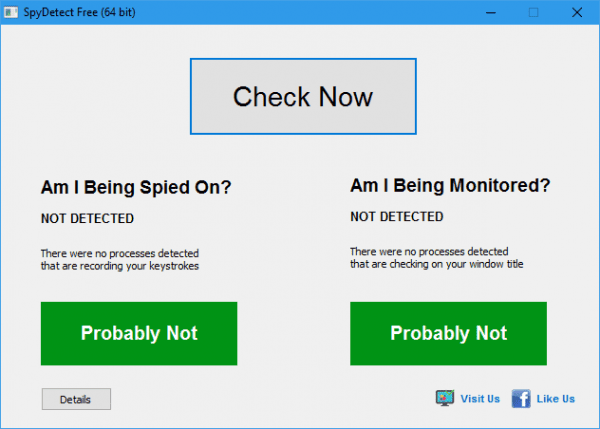 SpyDetect Free 64 bit 600x429 - SpyDetectFree To Find Out if You are being Spied on or Monitored