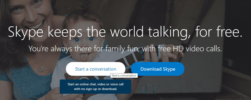 Start A Conversation in Skype Right Away without an Account