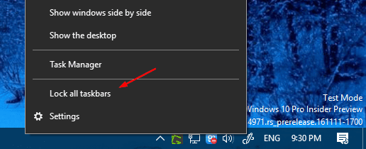 Taskbar display all taskbar unchecked - Windows 10 Tip: How To Move System Tray to the Second Display