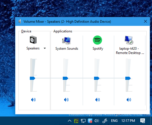 Sound Mixer on Windows 10 - Windows 10 Trick: How To Bring Back Windows 7 Style Volume Control