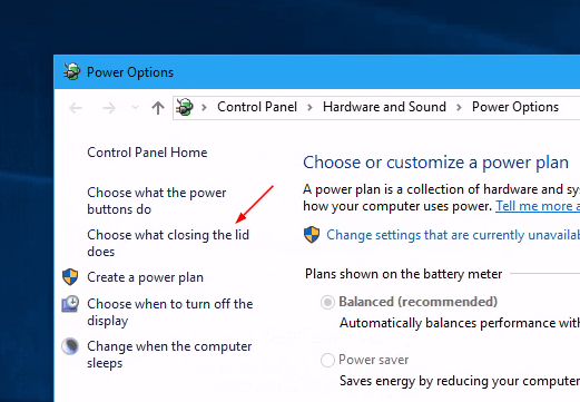 Start Power Options choose what closing lid - What to Do When Your Windows 10 Laptop Keeps Waking Up from Sleep Mode
