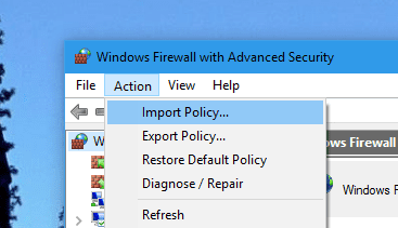 How To Export and Import Windows Firewall Policy in Windows