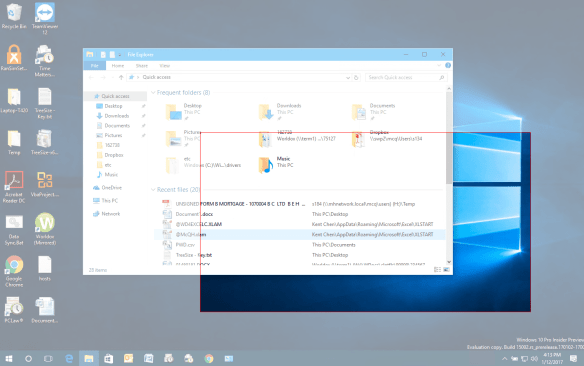 Windows 10 take region screenshot 600x376 - How To Capture a Region of Your Screen Natively in Windows 10