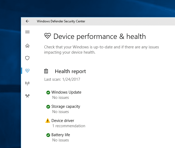 Windows 10 Tip: What is Windows Defender Security Center - Next of