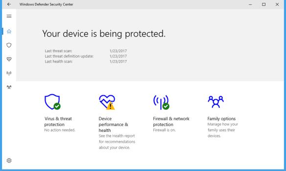 Windows Defender Security Center 600x360 - Windows 10 Tip: What is Windows Defender Security Center
