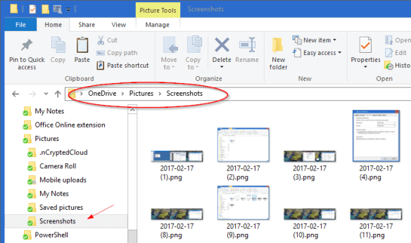 OneDrive Screenshot folder. 600x354 - How To Take Screenshot and Save it to OneDrive Automatically on Windows