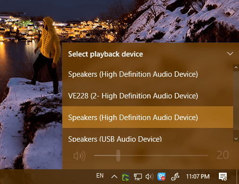 Windows 10 playback device list - Windows 10 Tip: How To Quickly Switch Sound Playback Device