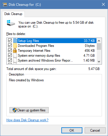 Disk Cleanup for lowdisk - Running Disk Cleanup Tool in Command Line in Windows 10