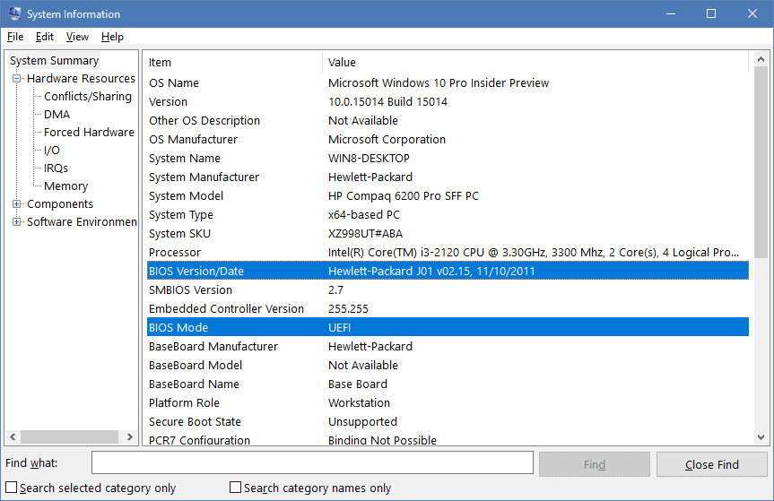 How To Quickly Find BIOS Version, Date or Computer Serial