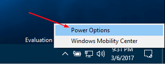 Windows 10 battery icon power options - Changing the Power Plan Right from System Tray in Windows 10
