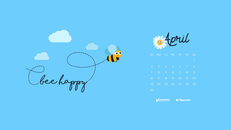 Download Smashing Magazine Desktop Wallpaper Calendar April 2017