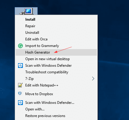 how to open md5 file in windows 10