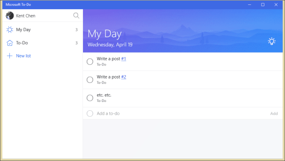 Microsoft To Do 600x339 - Microsoft To-Do App Available in Preview on Windows 10, iOS and Android