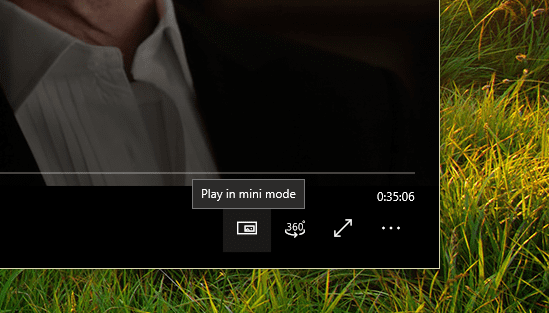Movies TV app mini mode button - Windows 10 Tip: What's Mini View in Movies & TV App and How To Use it