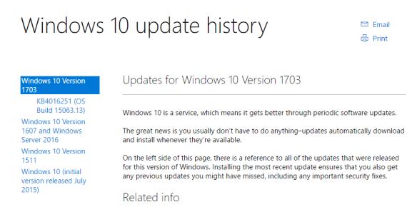 Windows 10 Update History 600x298 - Windows 10 Creators Update Download Resources and Options