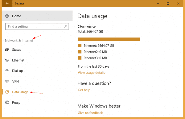 Settings network data usage available 600x387 - Windows 10 Tip: How To Reset Data Usage to Start Fresh