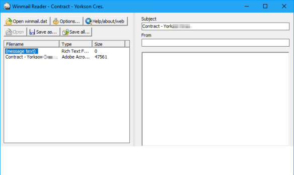 Windmail reader 600x359 - Outlook Tip: What To Do When Receipt Receives Winmail.dat Attachment from You