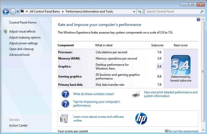 Getting Windows Experience Index Score on Windows 10 - Next