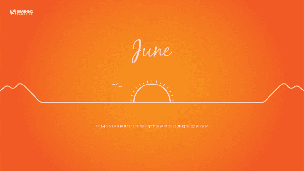 june 17 solstice sunset full thumb - Download Smashing Magazine Desktop Wallpaper Calendar June 2017 Windows 7/8/10 Theme