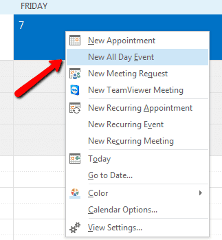 2017 06 08 1732 - How To Create Outlook Out-of-Office Calendar Event Block