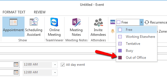 2017 06 08 1734 - How To Create Outlook Out-of-Office Calendar Event Block