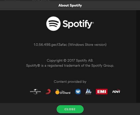 About Spotify Store version - Welcome to Windows 10, Spotify, as A Windows Store App