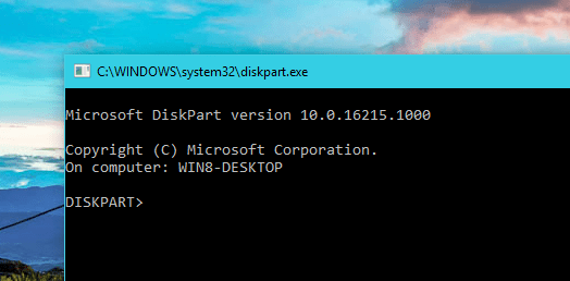 DiskPart mode - Windows Tip: How To Completely Wipe Out A Disk with DiskPart