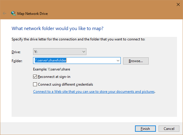 3 Ways to Map Network Drive in Windows 10 - Next of Windows Map A Folder on map template, map clock, map files, map layout, map brochure, map frame, map bag, map pen, map worksheet, map button, map component, map data, map graph,