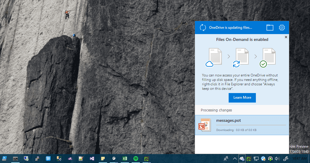 OneDrive File On Demand - OneDrive Files on-Demand is now Available for Windows Insiders