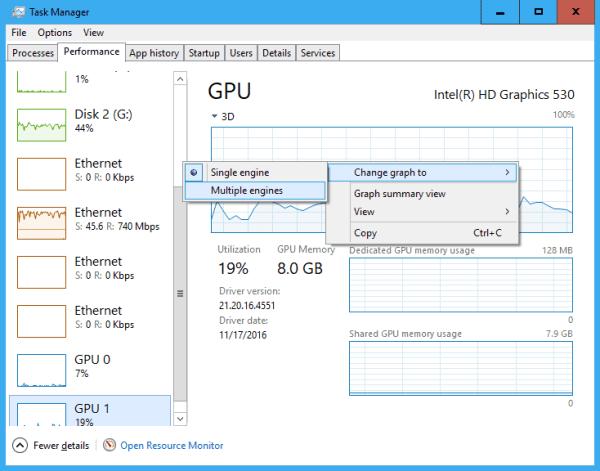 Task Manager Performance GPU change graph - Windows 10 New Feature: Tracking GPU Usage Performance