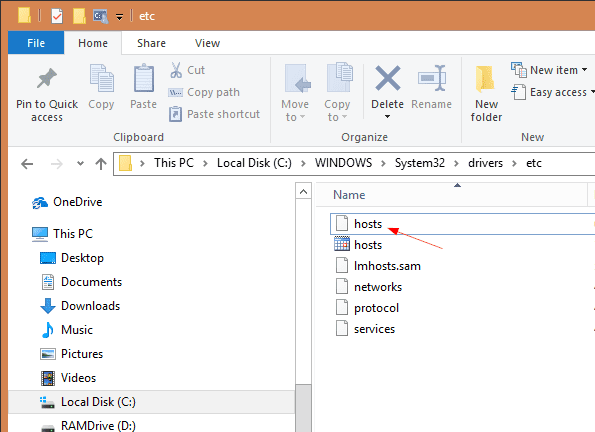Where is the hosts file - Windows 10 Tip: How To Block a Website without 3rd Party Software